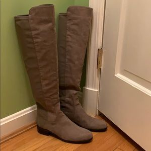 New Unisa over the knee boots in taupe color